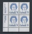 Canada #593bi LL PL BL #6 Dull Fluorescent Paper Variety MNH **Free Shipping**