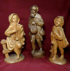Antique Pro Carved Wooden Shepherds Nativity Statue Figurines 12 145 BIG
