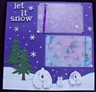 3 D Sewn Mats Beautiful Winter Page Paper Piecing Polar Bears and Trees Snowflak
