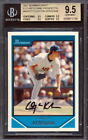 2007 Bowman Draft #BDPP77 Clayton Kershaw Rookie Card Graded BGS All 9.5