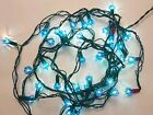 Vintage strings Old Fashioned Christmas Blue Lights 40 Each Tested Holiday Tree