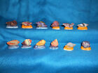 SNAIL Sea SHELLS Mollusk Set of 12 Mini Figurines FRENCH Porcelain FEVES Matte