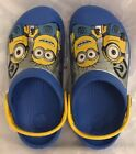 NEW UNISEX CROCS CC MINIONS CLOG VARSITY BLUE YELLOW CHILDS SIZE 6 7