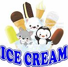 Ice Cream Decal Choose Your Size Food Truck Sign Restaurant Concession