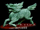 Carved Chinese Green Jade Stone Kirin - Kanji An Ancient Mythological Beast #20
