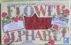 Victorian Flower Alphabet RUBBER STAMPEDE Stamp Collection CYNTHIA HART + INKPAD