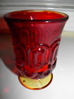 Vintage Amberina Glass Moon And Star Footed Spooner Vase