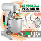 30QT DOUGH FOOD MIXER BLENDER 1.5HP COMMERCIAL 1100W MOTOR STAINLESS STEEL