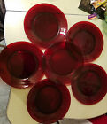 Lot of six Anchor Hocking Ruby Red 9