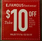 Famous Footwear Coupon 10 off 50 or More In Store Purchase Expires 12 31 17