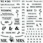 DIY Wedding Invitation Fiskars Clear Acrylic Stamp Set 146740 1001 NEW