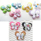 60 pc x 1 Padded 2 Layer Floral Flower Cotton Felt Butterfly Appliques ST159M
