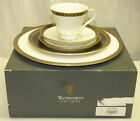 NEW Waterford Ashworth 5 Piece Place Setting in Box 3 Plates & Cup Saucer Set