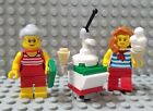 LEGO New City Fun at the Beach Ice Cream Minifigures Old Lady Swimsuit Vendor
