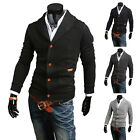Mens Boy Slim Fit V neck Knitwear Pullover Cardigan Sweater Jacket Coat Tops New