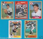 ROGER CLEMENS LOT 5 CARDS TOPPS S 1 340 614 21 DONRUSS  184 1987 1990 RED SOX