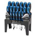 S#Draper Tools 44 Piece Screwdriver, Hex Key, and Bit Set with Stand Blue 81294