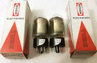 RAYTHEON USA 6L6GC 2 Tubes NOS NIB DD Side Getter Short Bottle NEW Matched PAIR