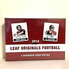 2014 Leaf Originals Football Hobby Box 5 Auto Autograph FREE SHIP Derek Carr
