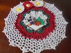 NEW Hand Crochet Doily CHRISTMAS Mickey Mouse Flowers