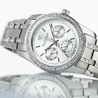 YVES CAMANI MIELLE Womens Wrist Watch Stainless Steel Silver Multifunction New