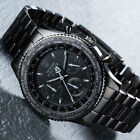 DETOMASO FIRENZE BLACK Mens Wrist Watch Chronograph Stainless Steel 10 ATM New