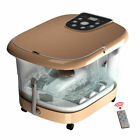 All In One Foot Spa Bath Massager Tem Time Set Heat Bubble Vibration W 6 Roller