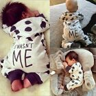 Newborn Infant Baby Boy Girl Kids Comfort Romper Jumpsuit Dot Clothes Outfit US