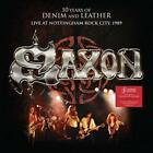 SAXON - 10 YEARS OF DENIM AND LEATHER: LIVE AT NOTTINGHAM ROCK CITY, 1989 USED -