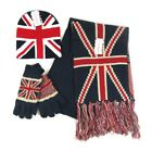 Adults Mens Father British Union Jack Winter Bobble Hat Scarf Gloves Dad Gifts