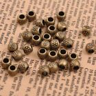 50100pcs Antique Tibetan Silver Round Charm Spacer Beads For Jewelry Diy
