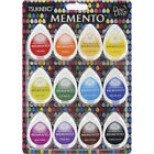 Memento Dew Drop Dye Ink Pads 12 Pkg Gum Drops
