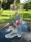 VINTAGE FROM GERMANY GLASS BEER BOOT 1 L BEER BRANDS ON BOOT 1075 SOUVENIR