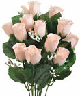 14 Roses Buds MANY COLORS Silk Flowers Bridal Bouquets Wedding Centerpieces