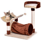 Cat Tree Pet Furniture Kitten Play Tower Bed Layer Scratching Post w Hanging Toy
