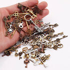 25PCS Steampunk Mixed Key Pendant Charms Bracelet Jewelry Findings DIY Vintage