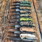 9PC SET MASTER BALLISTIC BOWIE Spring Assisted Open TACTICAL Pocket Knife Knives