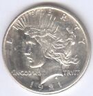 Genuine 1921 Peace Type Silver Dollar with Uncirculated Details