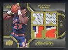2008-09 UD Black Gold SETBREAK Patrick Ewing Knicks HOF 3-Color Patch 2 15