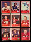 1963 FLEER FOOTBALL PARTIAL SET 54 88 NM *75313