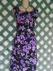 LOOKING GOOD BLACK PURPLE FLORAL FLIRT DRESS 1X L CAREER CHURCH PARTY WEDDING