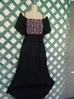 AUW BLACK EMBROIDERED COLD SHOULDER HIGH LOW DRESS M 8 NEW WEDDING PARTY CHURCH