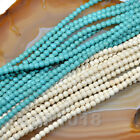 Blue  White Turquoise Loose Gemstone Beads 16 2mm 3mm 4mm Pick
