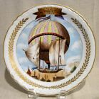 Antique French Siquier December Hot Air Balloon Plate