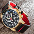 DETOMASO BOTTONE Mens Watch Chronograph Stainless Steel Gold Plated New