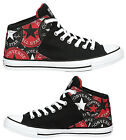 New CONVERSE Chuck Taylor Street Mid Sneaker Mens all sizes black red