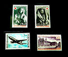1973 france red cross croix rouge A300 airbus duc bourgogne dijon set mnh lot 3