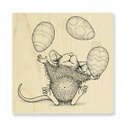 HOUSE MOUSE RUBBER STAMPS EASTER EGG JUGGLE NEW wood STAMP