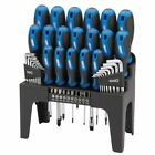Draper Tools 44 Piece Screwdriver, Hex Key, and Bit Set with Stand Blue 81294