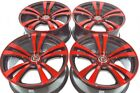 18 red Wheels Rims Accord Eclipse Fusion Camry Galant Legacy Civic 5x100 5x1143